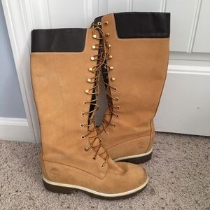 Tall Timberland Boots Lace Up Halloween Ready